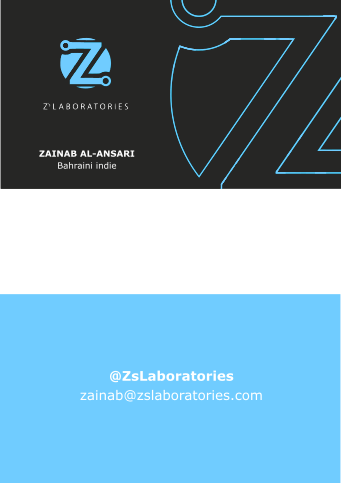 New Z's Laboratories business card design