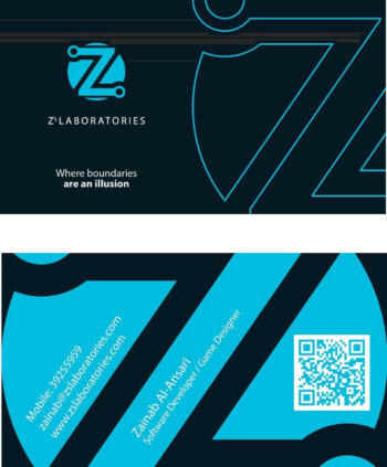 Old Z's Laboratories business card